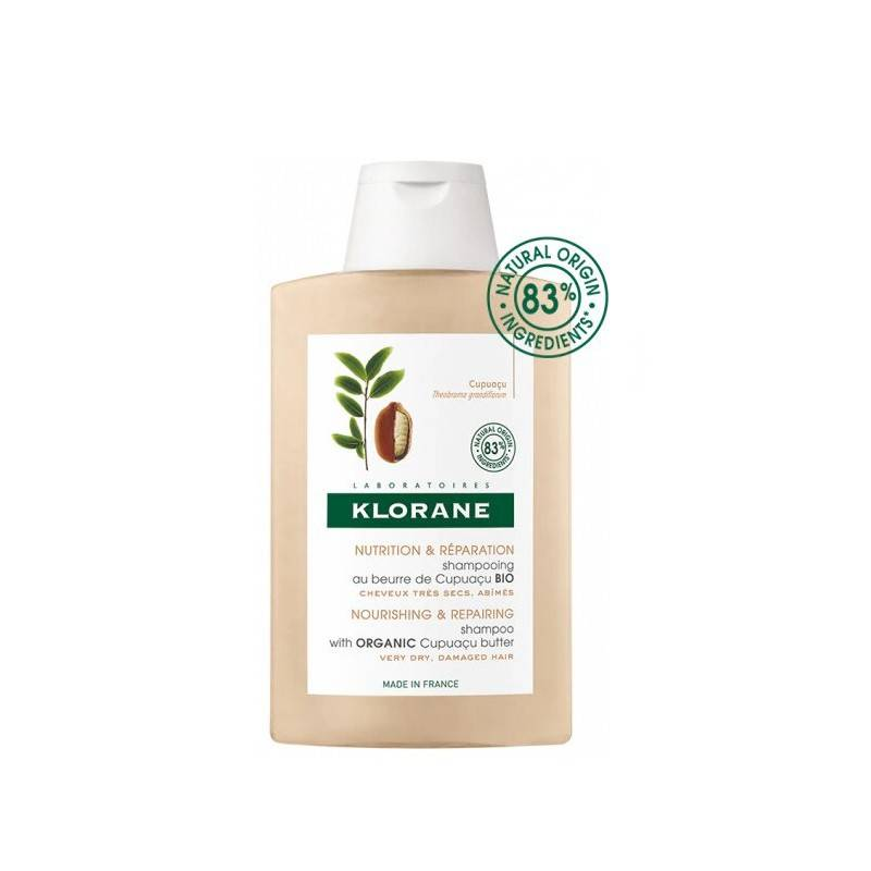 Klorane Shampoing nutrition et réparation au beurre de Cupuaçu Bio - 400ml