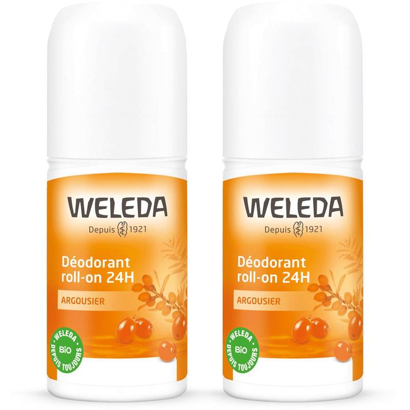 Weleda Déodorant roll-on 24h argousier - 2x50ml