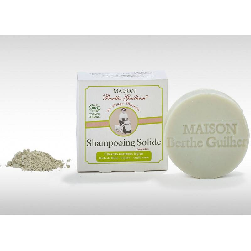 Maison Berthe Guilhem Shampoing solide cheveux normaux à gras Bio - 100g