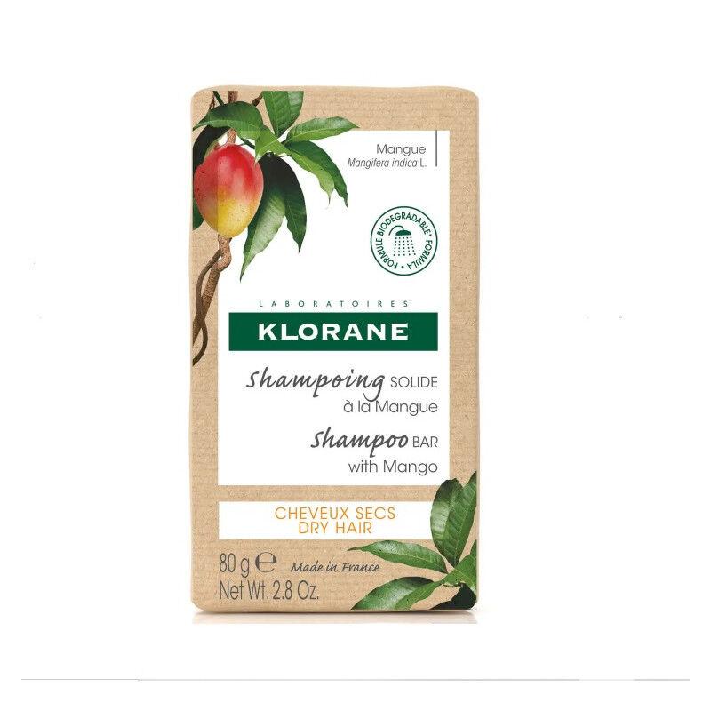 Klorane Shampoing solide Mangue pour cheveux secs - 80g