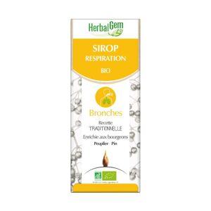 HerbalGem Sirop respiration Bio 150ml - Publicité