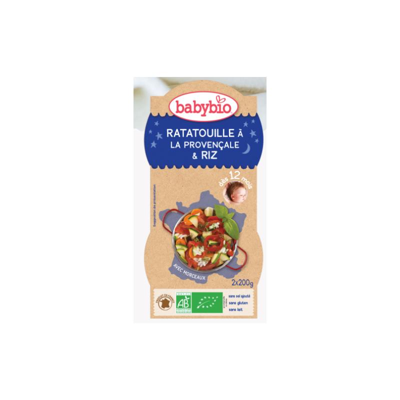 Babybio Ratatouille à la provençale riz dès 12 mois 2*200g