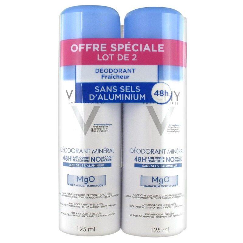 Vichy deodorant mineral mgo lot de 2x125 ml