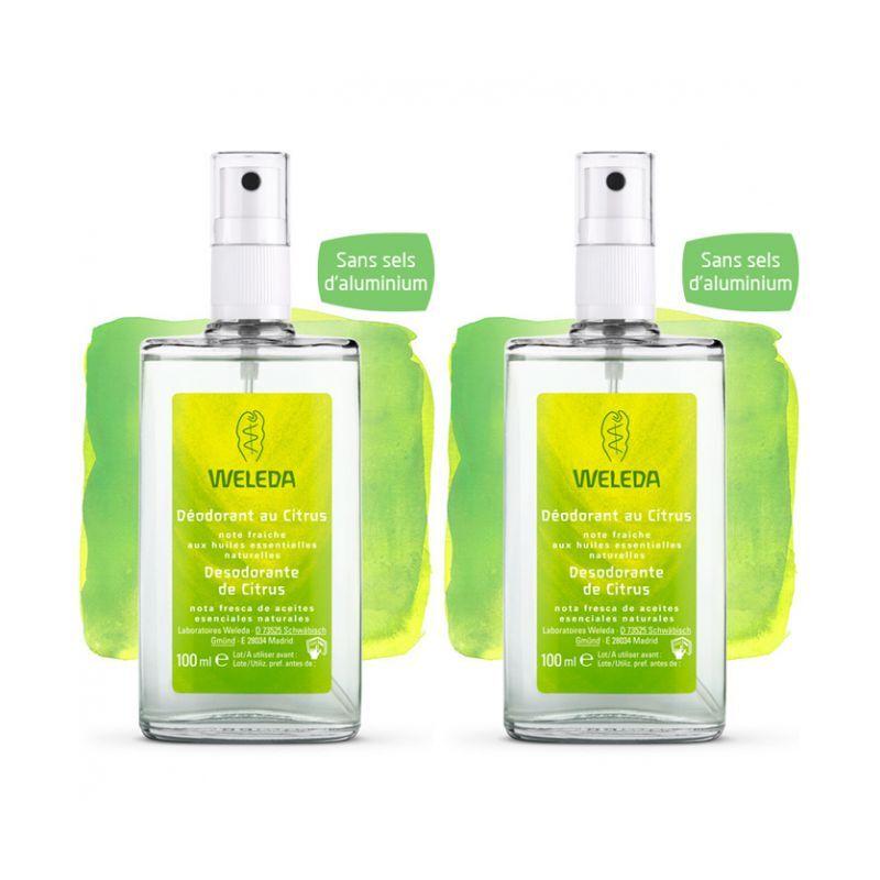 Weleda déodorant au citrus 100ml duo