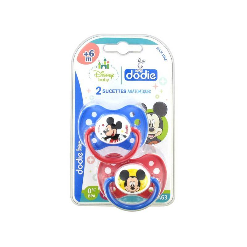 Dodie Disney 2 Sucettes Silicone +6 Mois Mickey
