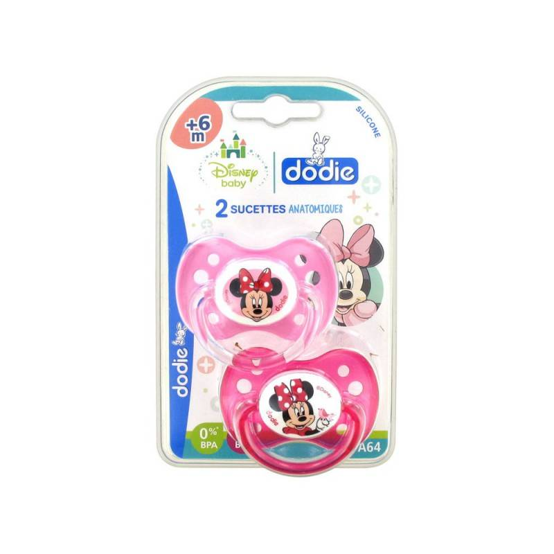 Dodie Disney 2 Sucettes Silicone +6 Mois Minnie