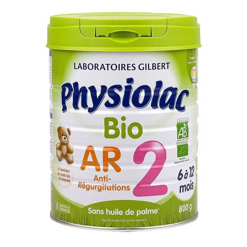 gilbert Physiolac Lait anti-régurgitations Bio 2ème âge - 800g