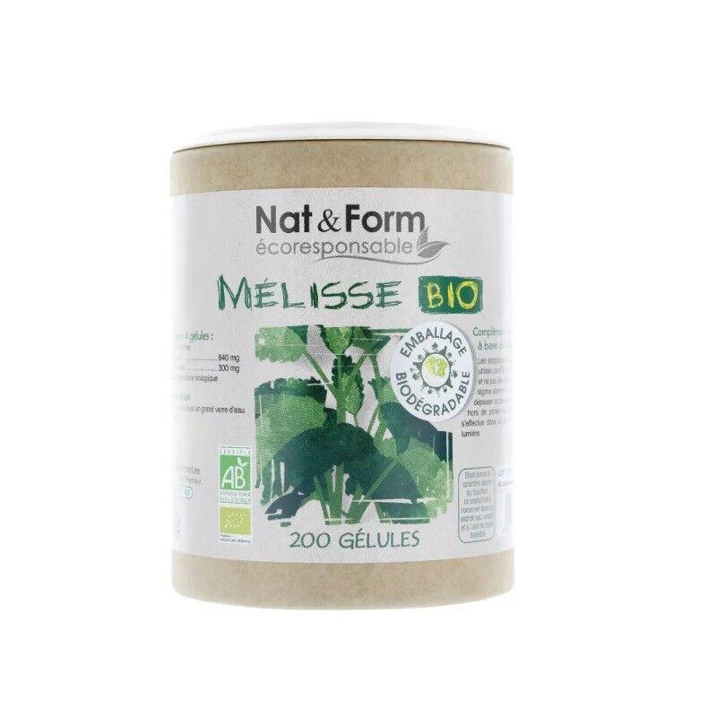 Nat&Form Mélisse Bio - 200 gélules