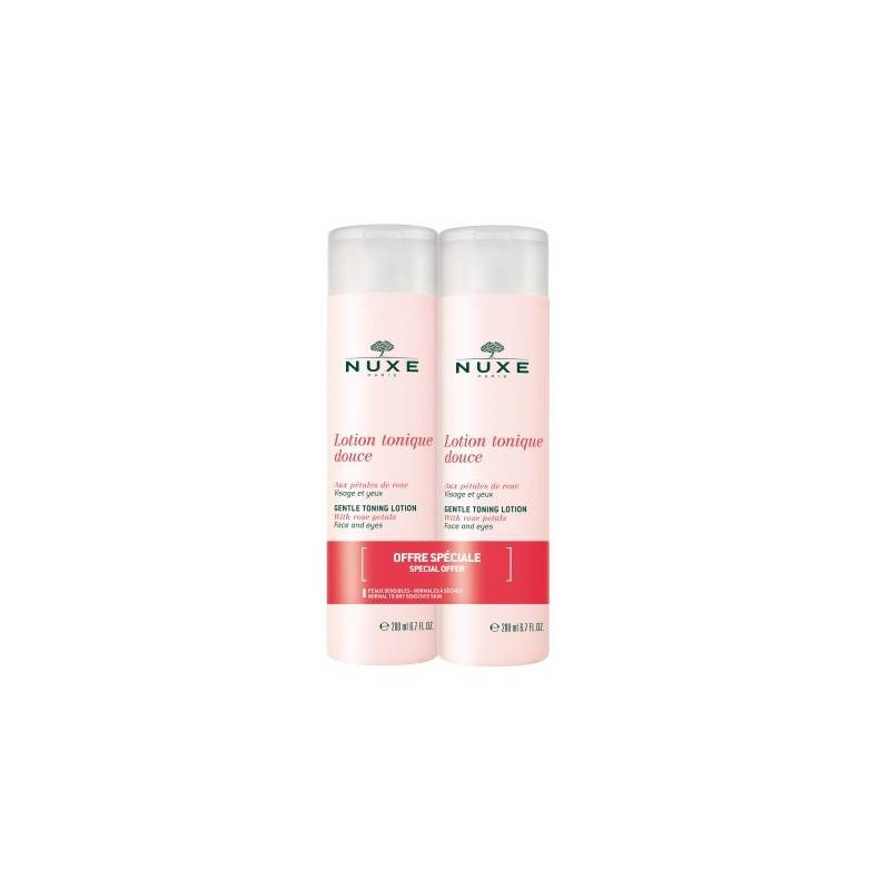 Nuxe lotion tonique douce pétales de rose lot  2x200ML