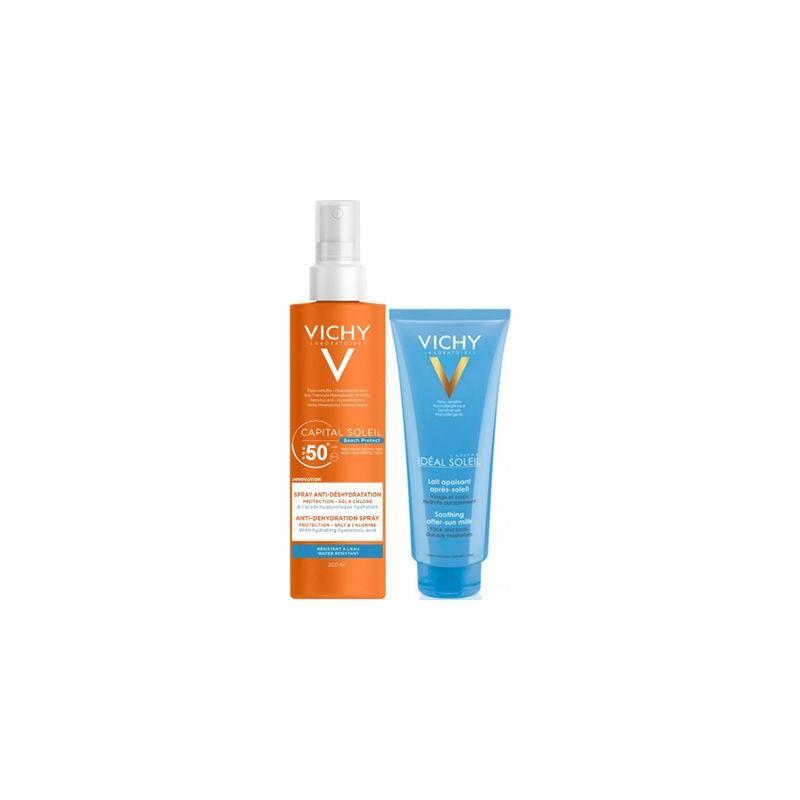 Vichy spray anti-déshydratation spf 50 - 200ml + lait offert
