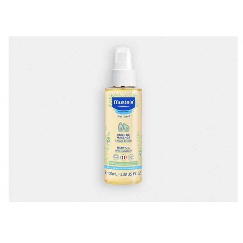 Mustela huile de massage à l'huile d'avocat 100ml