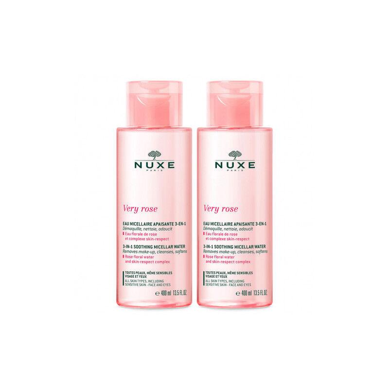 Nuxe very rose eau micellaire 3 en 1 lot 2x400ml