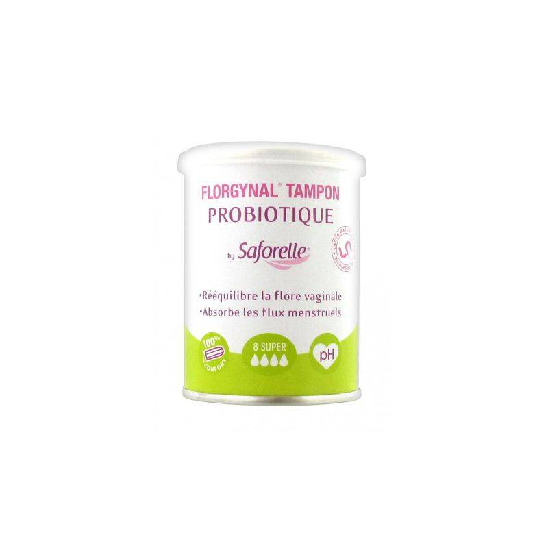 Saforelle Florgynal Tampon Super Sans Applicateur Boite de 8