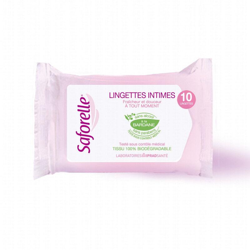 Saforelle Pocket lingettes intimes biodégradables x10