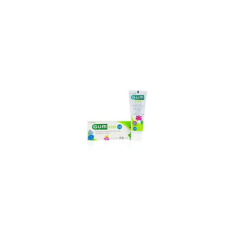 Gum kids dentifrice fraise 2-6 ans 50ml