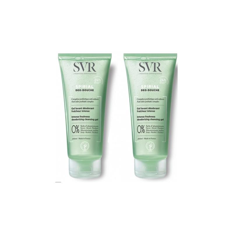 SVR Spirial Gel lavant déodorant fraicheur intense 2 x 200 ml