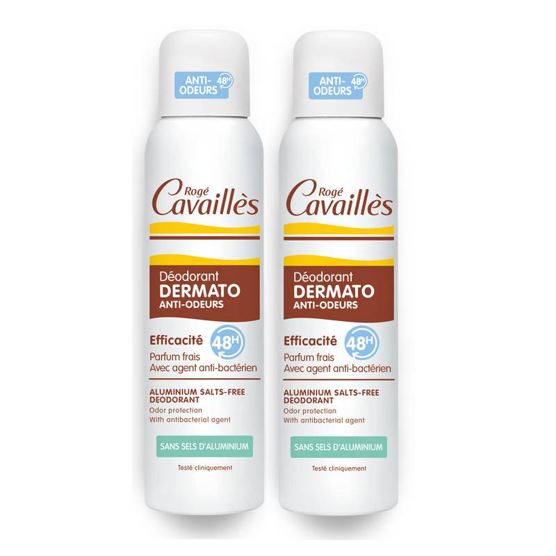 Rogé Cavaillés Rogé Cavaillès Déodorant dermato anti-odeurs 48h spray - 2 x 150ml