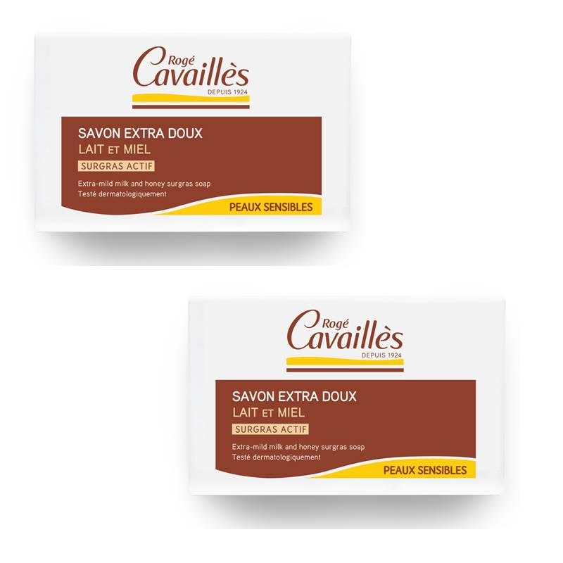 Rogé Cavaillés Rogé Cavaillès Savon surgras lait et miel - 2 x 250g
