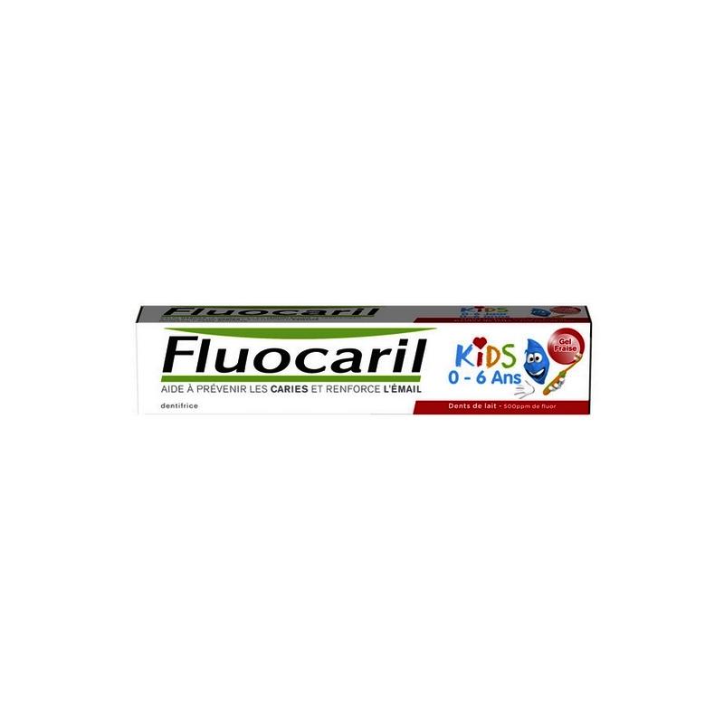 Gaba Fluocaril Kids Dentifrice gel fraise 0-6 ans - 50ml