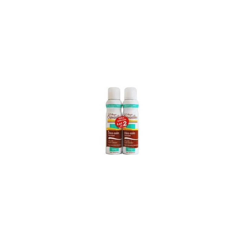 Rogé Cavaillés Rogé cavailles déodorant absorb+ lot de 2x150ml spray