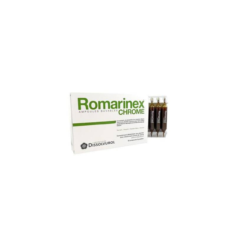 Dissolvurol Romarinex chrome 20 ampoules de 10ml