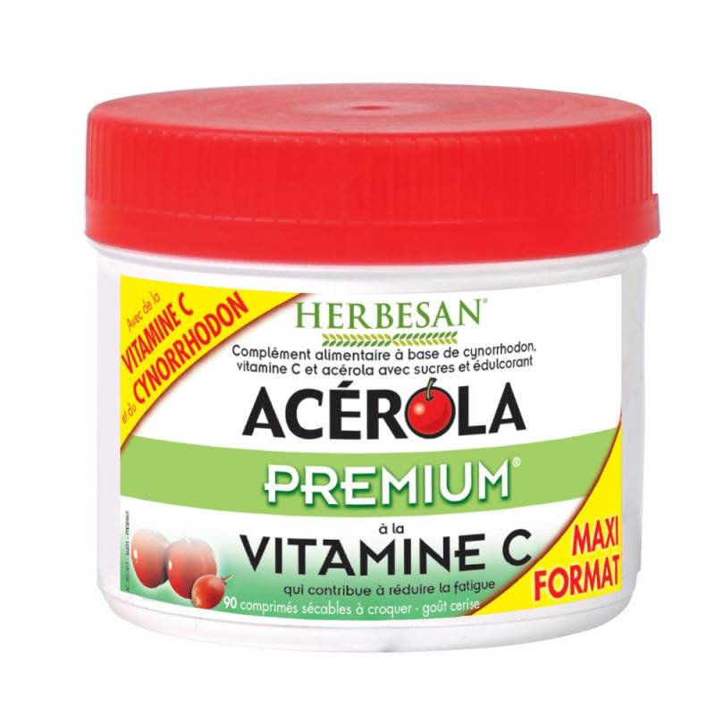 Super Diet Herbesan Acérola premium - 90 comprimés à croquer