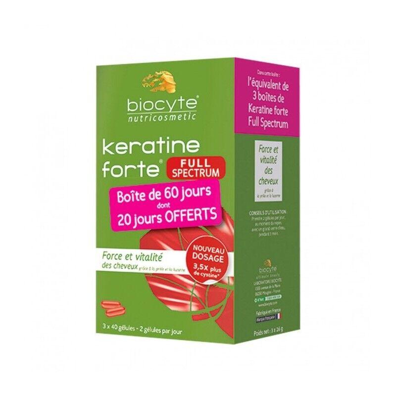 Biocyte Keratine Forte Full spectrum - 120 Gélules