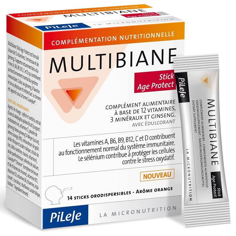 Pileje Multibiane Age Protect - 14 Sticks orodispersibles
