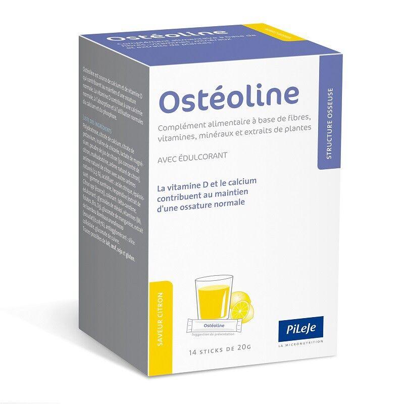 Pileje Osteoline - 14 sticks saveur citron