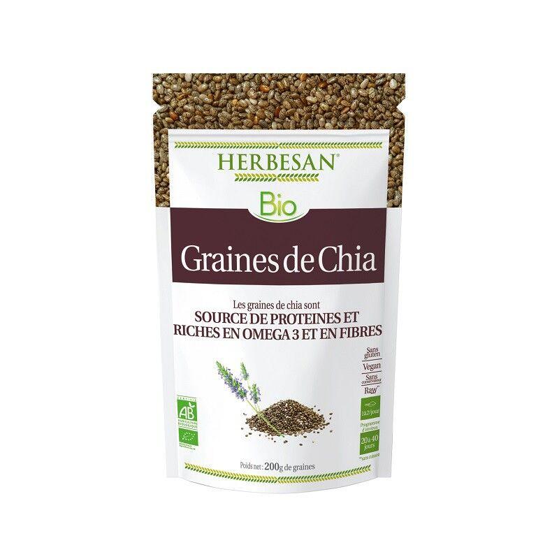Super Diet Herbesan Graines de Chia Bio - Sachet de 200g