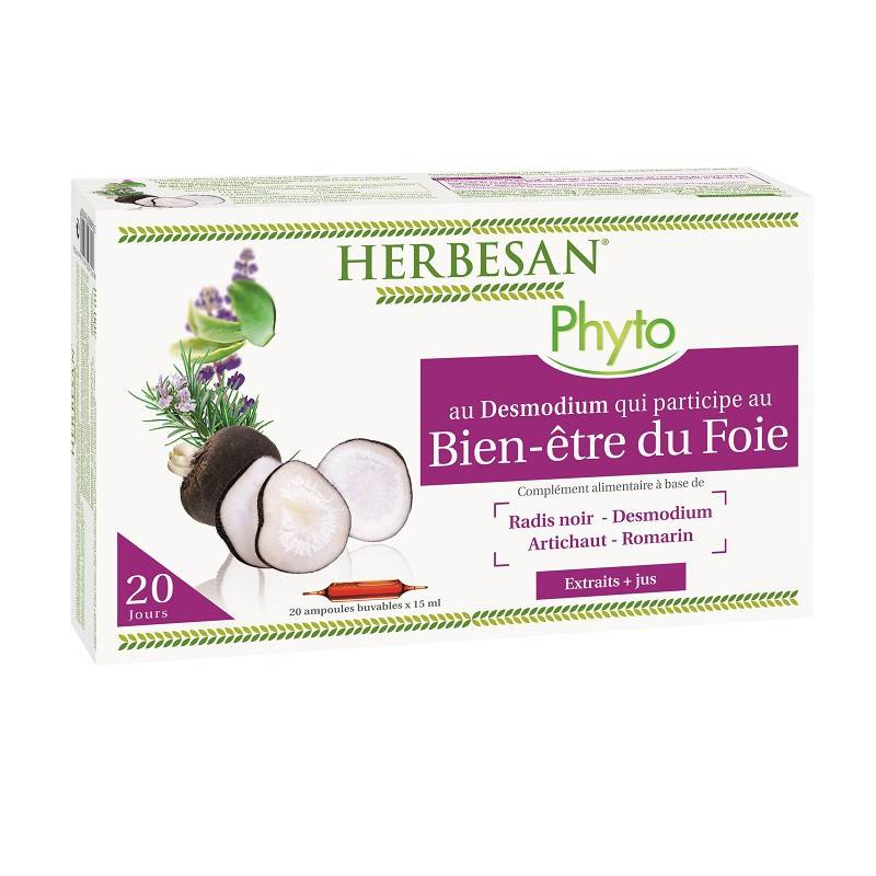 Super Diet Herbesan Desmodium digestion - 20 ampoules