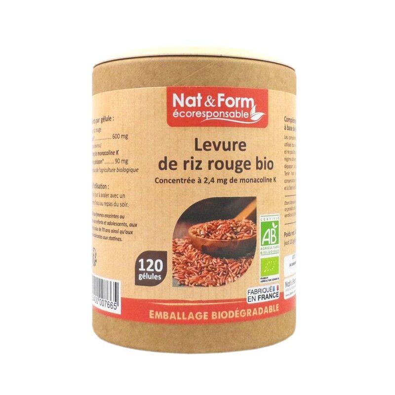 Nat&Form Levure de riz rouge Bio - 120 gélules
