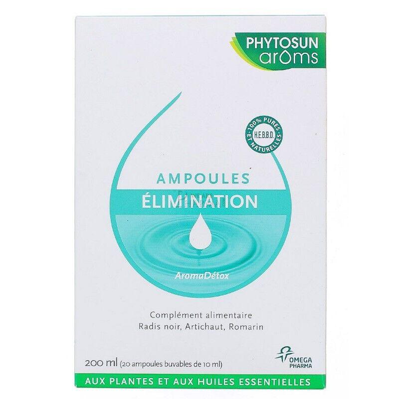 Phytosunarôms Phytosun Arôms AromaDétox élimination - 20 ampoules de 10ml