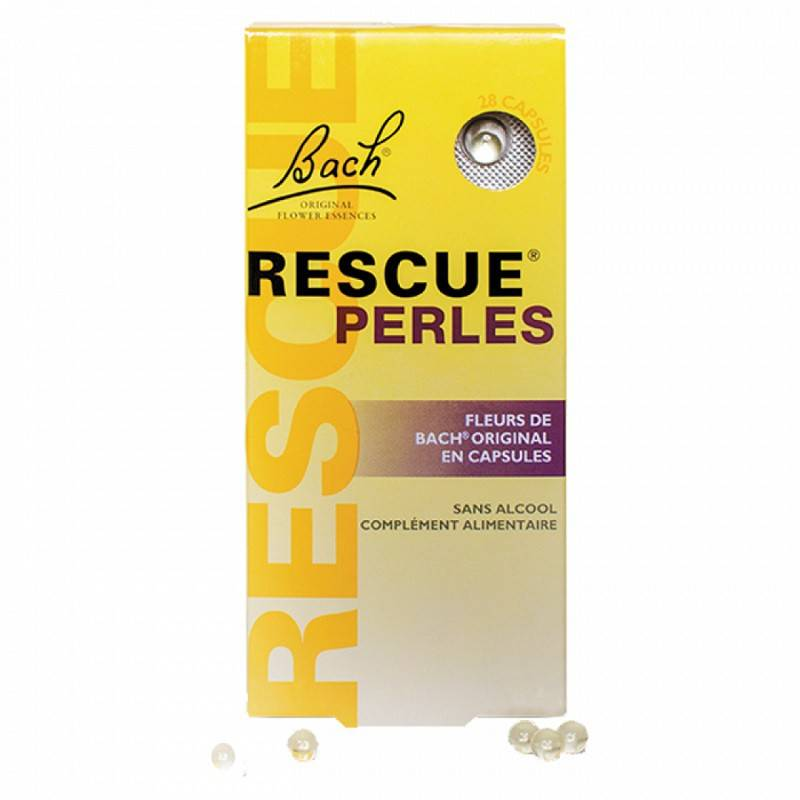 Bach Fleurs de Bach Rescue perles - 28 capsules