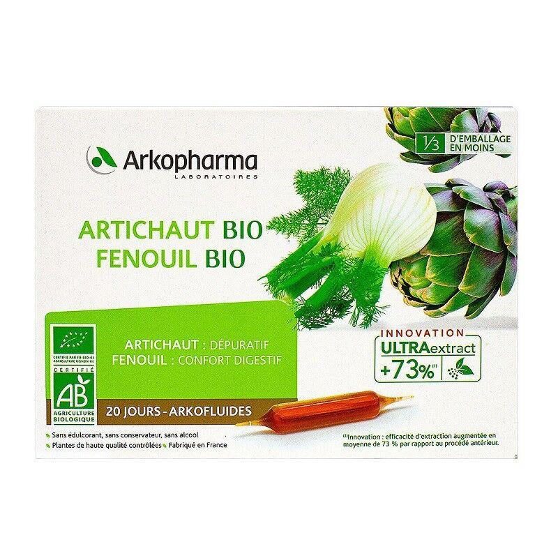 Arkopharma Arkofluides Artichaut Fenouil Bio - 20 ampoules