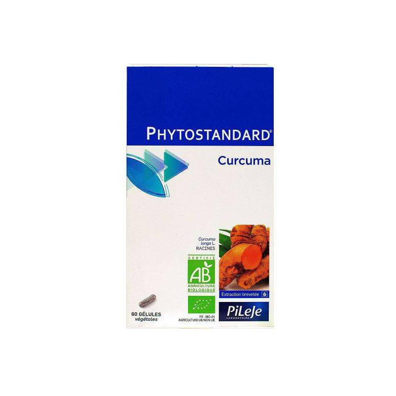 Pileje Phytostandard de curcuma 60 gélules