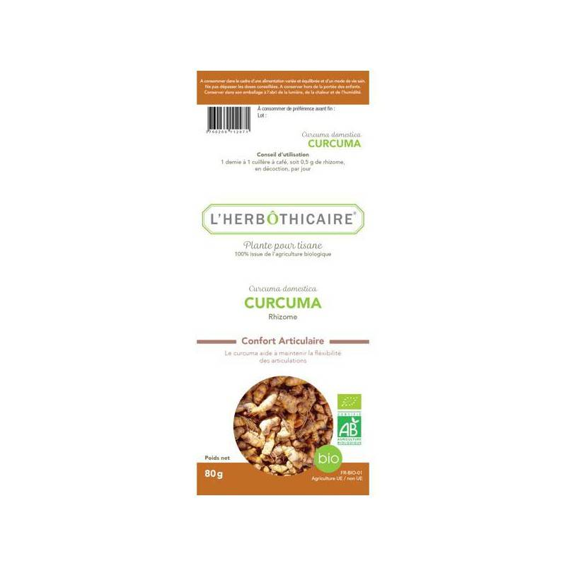 L'herboticaire L'herbôthicaire tisane curcuma bio 80g