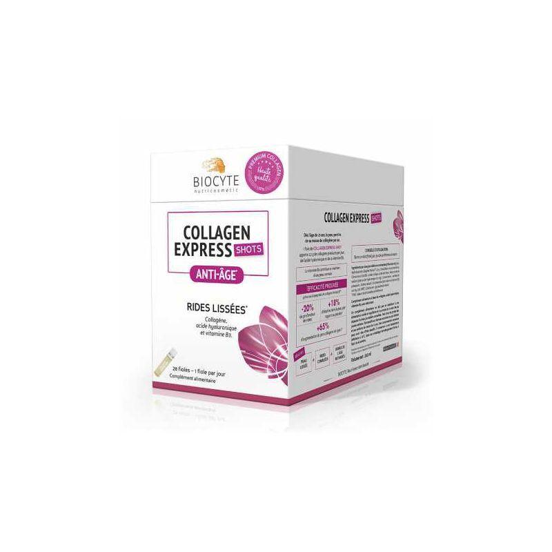 Biocyte Collagen Express shots anti-âge  - 28 fioles