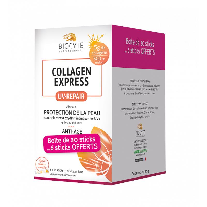 Biocyte Collagen express Uv-repair anti-âge - 30 sticks