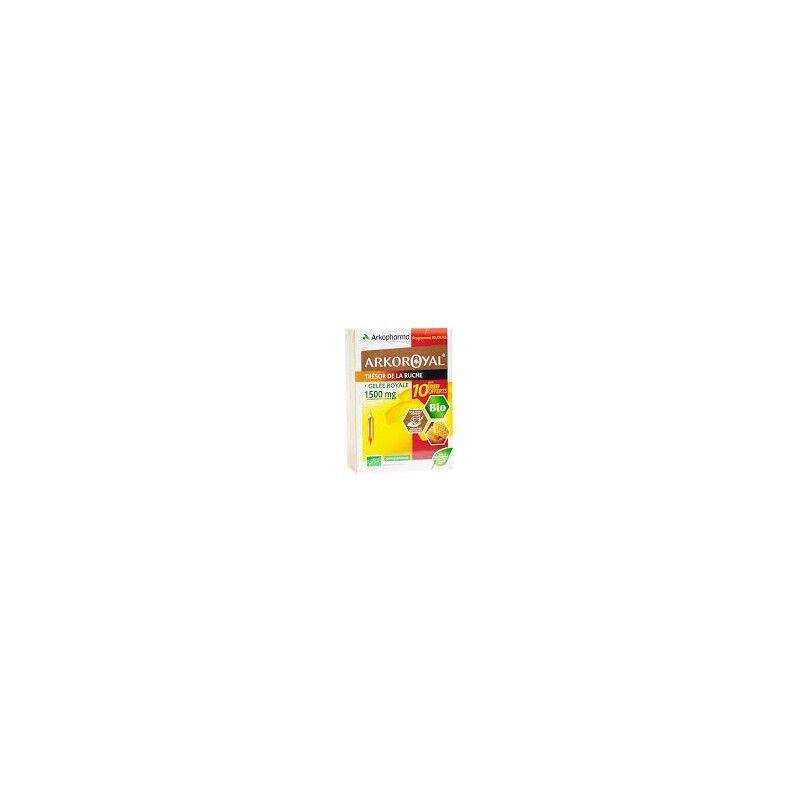 Arkopharma Arkoroyal gelée royale 1500 mg 20 ampoules + 10 offertes