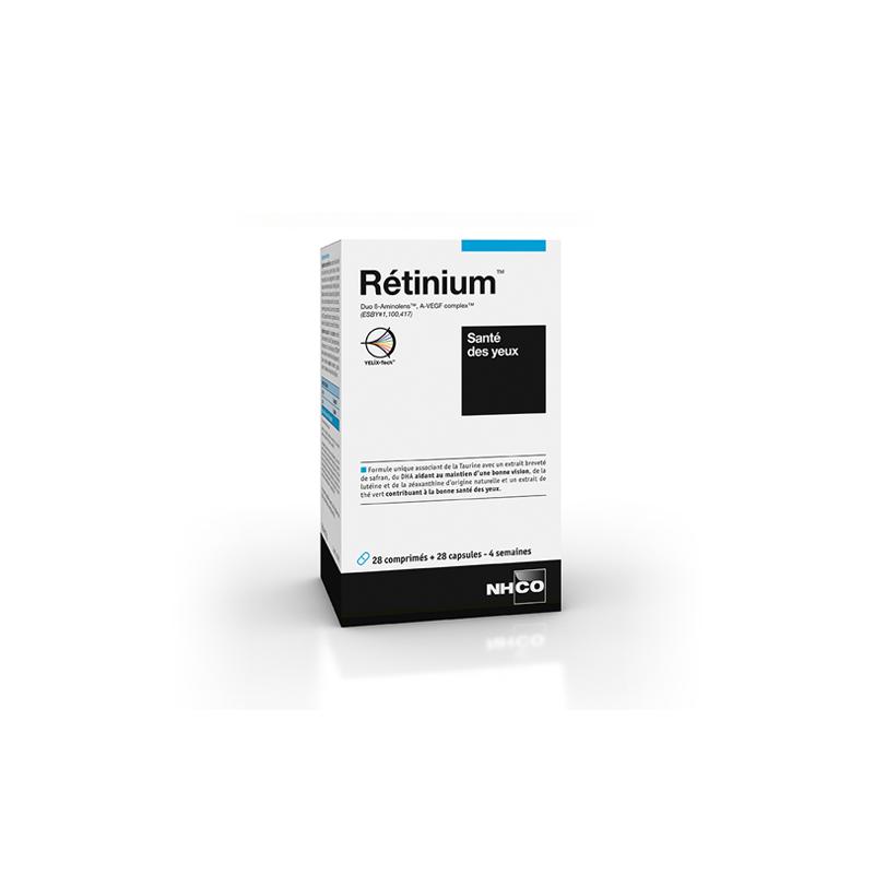 NHCO Rétinium santé des yeux - 28 gélules + 28 comprimés