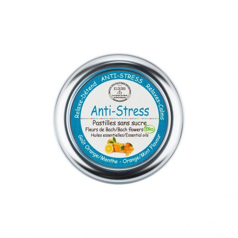 Elixir and co Elixirs & Co - Pastilles sans sucre anti-stress Bio - 45g