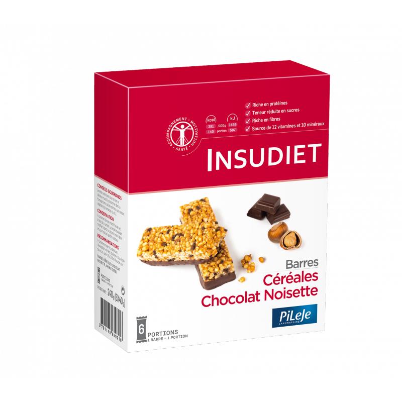 Pileje Insudiet barres céréales choco noisettes x 6
