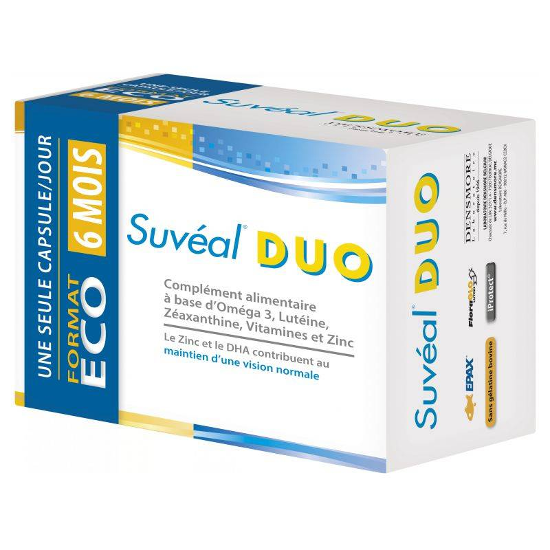 Densmore Suvéal duo Rétine 180 capsules