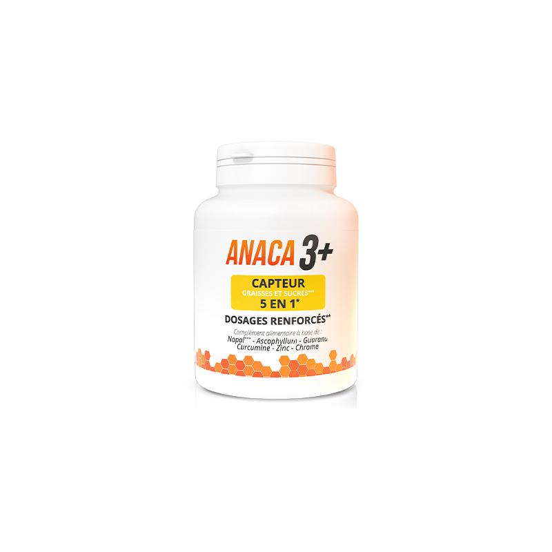 Anaca 3 Anaca3+ Capteur 5 en 1 graisses et sucres - 120 gélules