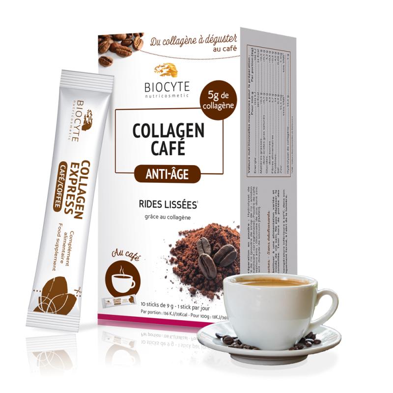 Biocyte Collagen Café anti-âge - 10 sticks