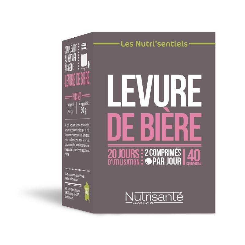 Nutrisanté Les Nutri'Sentiels Levure de bière - 40 comprimés