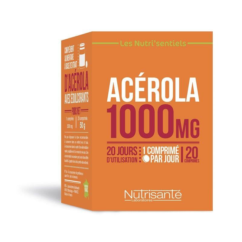 Nutrisanté Les Nutri'Sentiels Acérola 1000mg - 20 comprimés