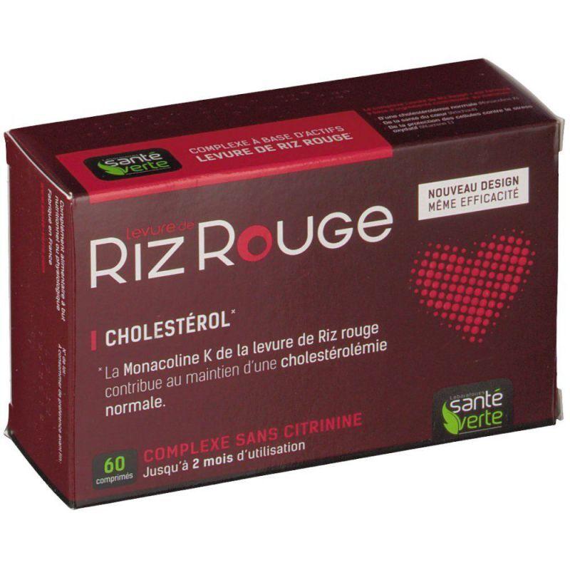 Santé verte Levure de riz rouge 60 Comprimés Santé verte