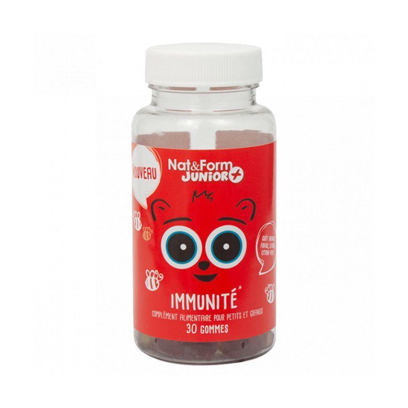 Nat&Form Junior + Immunité - 30 oursons fruités